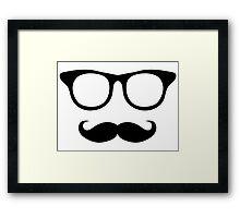 Nerdy Mustache Man Framed Print