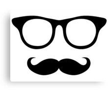 Nerdy Mustache Man Canvas Print