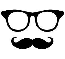 Nerdy Mustache Man Photographic Print