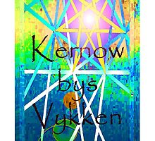 Kernow bys vykken - Cornwall for ever by Jonathan Kereve-Clarke (Coventry Artist)