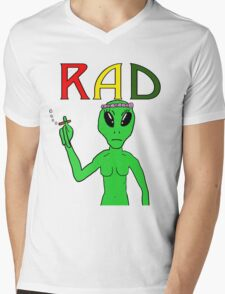 Rad Alien Mens V-Neck T-Shirt