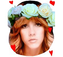 Stevie Nicks Flowers Photographic Print