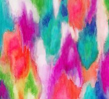 Epiphany 2 - Abstract Watercolor Ikat by Jacqueline Maldonado