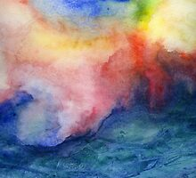 Torrent - Abstract Watercolor Ocean Painting by Jacqueline Maldonado
