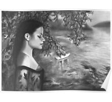Graphite Drawing - Listening to Nightfall, Elizabeth Bay | Australian Art Poster