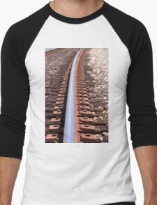 train track Men's Baseball ¾ T-Shirt