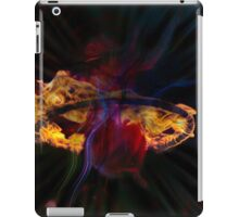 monkey in circus hoop on fire iPad Case/Skin
