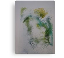 Water colour screen-print of Expanding foam face. Canvas Print