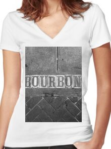 Bourbon Street Women's Fitted V-Neck T-Shirt