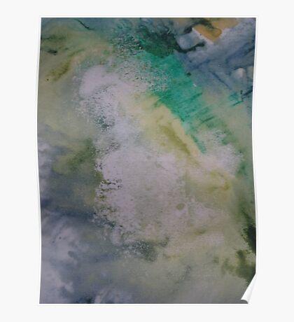 Expanding Foam portrait screen-print zoomed in  Poster