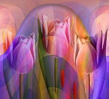 Tulips Festival, abstract floral art by walstraasart