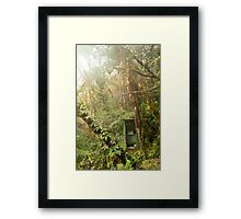Toilet in mountain forest Framed Print