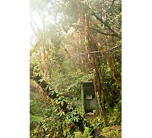 Toilet in mountain forest Photographic Print