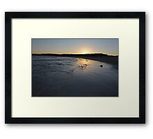 Beach Sunset Landscape Framed Print