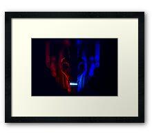 Cyberman Portrait Dr Who Framed Print