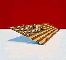 American Flag Wood by YoPedro