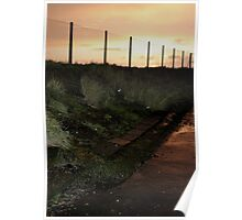 sunset fencing Poster
