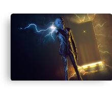 Silent Dr Who The Silence Canvas Print