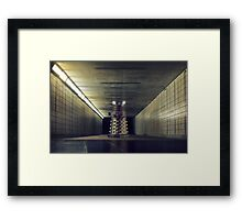 Dalek from Doctor Who in subway Framed Print