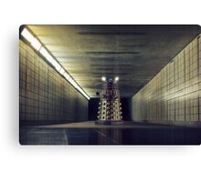 Dalek from Doctor Who in subway Canvas Print