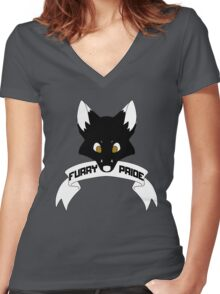 Furry Pride - Fox Women's Fitted V-Neck T-Shirt
