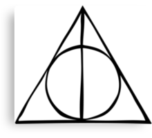 Harry Potter - Deathly Hallows Canvas Print