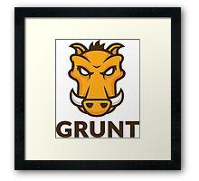 Grunt Js Framed Print