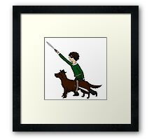 Redbeard and Sherlock Framed Print