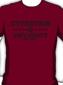 Cybertron University  (Black) T-Shirt