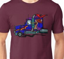 Woman Riding Shotgun Unisex T-Shirt