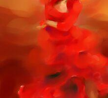 Flamenco dancer by Susana Zarate