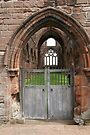 Sweetheart Abbey Door by Allen Lucas