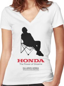 Alonso F1 - #PlacesAlonsoWouldRatherBe Women's Fitted V-Neck T-Shirt