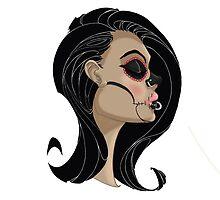 Candy Skull Girl by KyleCoffeyArt