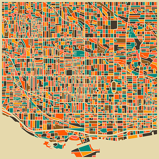 TORONTO MAP by JazzberryBlue
