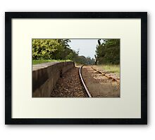 Old Train Platform Framed Print