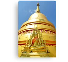 Tiger Temple dome and buddha Canvas Print