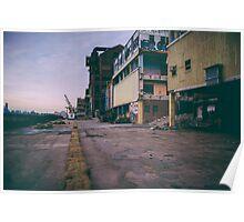 Abandoned Domino Sugar Factory Poster