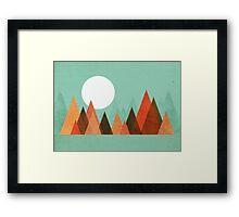 From the edge of the mountains Framed Print