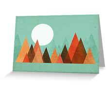From the edge of the mountains Greeting Card
