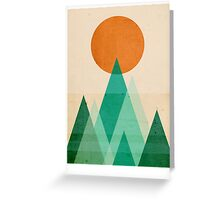 No Mountains High enough Greeting Card