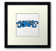 Jonas first name boy child fun cartoon Monster Framed Print