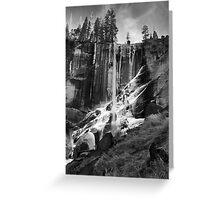 Ice On Vernal Falls Greeting Card