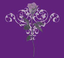 Vintage Lilac Rose by ArtVixen
