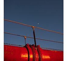 Golden Gate Bridge Pieces With Moon by lifeinfineart