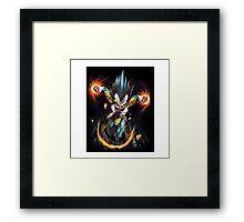 Vegeta Rage Framed Print