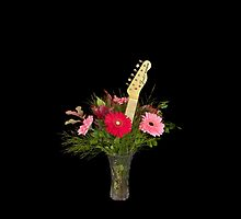 Guitar Flowers 4 by lifeinfineart