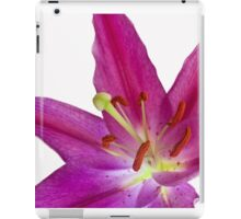 Purple Lilium Front On iPad Case/Skin