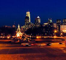 Philly skyline by MadVonD