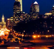 Philly skyline Sticker